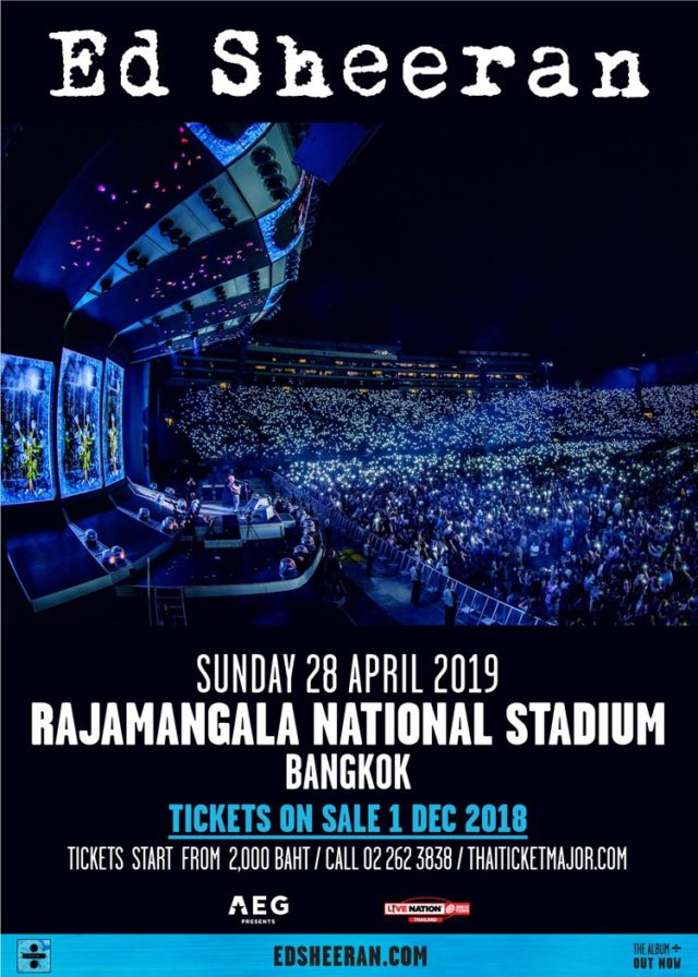 ed sheeran live in bangkok